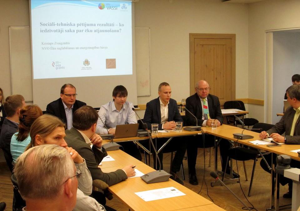 """Norisinājās pirmais ESEB rīkotais seminārs """"Daudzdzīvokļu māju atjaunošana un saglabāšana – pieredze un jaunas iespējas"""""""